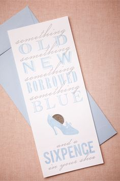 Sixpence Card in Décor Stationery at BHLDN