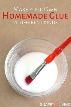 11 Homemade Glue Recipes | homemade glue | glue recipes | crafting | handmade | kids crafts | #craft #glue