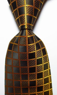 251d69d9ef7a Stunning copper gold on brown 100% silk jacquard tie at Guys Who Loves Ties.