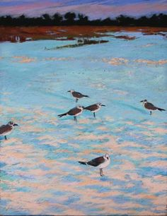 Six Seagulls on Sand - Lisa Gleim, $875
