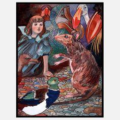 Alice In Wonderland Framed V, $119, now featured on Fab.