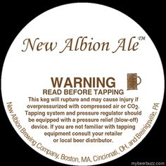 New Albion Brewing / Boston Beer – New Albion Ale