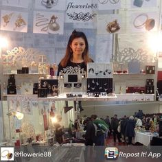 Repost from @flowerie88 - Thank you for coming to the #e17designers Fair yesterday! @flowerie88 next fair would be #hyperjapan in November! #craftmarket #handmade #handmadejewelry