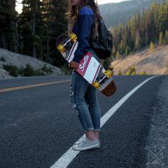Shop Stella Longboards at The Longboard Store Skateboard Photos, Skateboard Girl, Skates, Skate Girl, Summer Surf, Skate Style, Longboarding, Skateboards, Longboards Girls