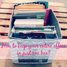 How to keep your entire office in one box! My thirty one business and life all in one Your Way Cube! #BWbethwalls #organizeinstyle