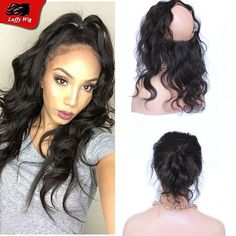 92.00$  Watch now - http://aliolq.worldwells.pw/go.php?t=32775640495 - Brazilian virgin hair Body wave 360 lace frontal unprocessed natural color pre plucked 360 frontal with baby hair 360 closure 92.00$