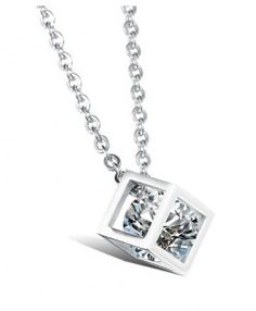 Chic Rhinestone Decorated Square Necklace For Men Best Men's Jewelry, Trendy Jewelry, Cheap Jewelry, Jewelry Shop, Fashion Jewelry, Women's Fashion, Men Necklace, Pendant Necklace, Necklace Online