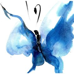 Butterfly Song 14... Original abstract watercolor art ooak painting by Kathy Morton Stanion EBSQ