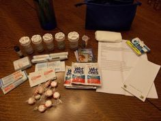 Migraine Emergency Kit (I have one similar to this that I carry!) Great blog with a lot of information!