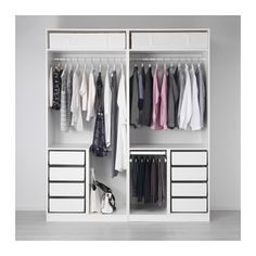 IKEA PAX wardrobe - this is lots of pieces that you buy as a set and put together to form the wardrobe as above. Ikea Pax Wardrobe, Ikea Closet, Wardrobe Storage, Bedroom Wardrobe, Wardrobe Closet, White Wardrobe, Bathroom Closet, Pax Closet, Open Wardrobe