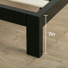 Mercury Row Mcgovern Platform Bed & Reviews | Wayfair Metal Platform Bed, Bed Reviews, Metal Box, Adjustable Beds, Framing Materials, Bed Frame, Mercury, Contemporary, Furniture