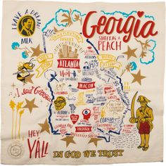 Everything that's fabulous about Georgia   Sweet As a Peach! Georgia+State+Dish+Towel+Primitives+by+Kathy