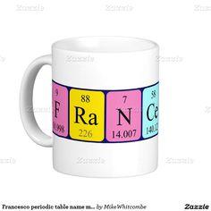 Rebecca periodic table name mug periodic table names and periodic francesco periodic table name mug urtaz Choice Image