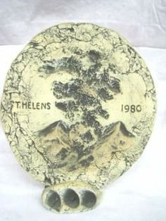 shopgoodwill.com: Ash of Mount St Helens 1980 - Plaque Goodwill Thrift Store, Thrifting, Ash, Auction, Plates, Personalized Items, Tableware, Gray, Licence Plates