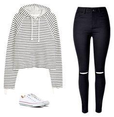 Stripessss. I like the white sneakers too.