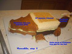 Making a Crocodile Cake- how to