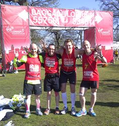 The Igloo Books team completes the London Marathon and the final marathon of their 7 in 7 Challenge