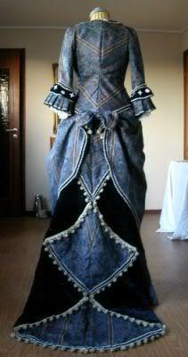 Wishing Dress Waterfall Bustle Dress Steampunk by TheStitchkateer, $749.99