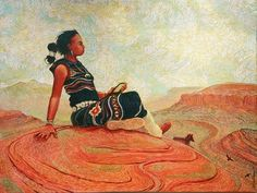 Begay, Shonto - Shonto Begay - Upon Her Tapestry