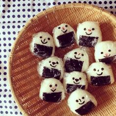 rice ball w/ faces