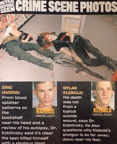 an introduction to the history of the crime committed by dylan klebold and eric harris In it she talks about what life has been like after april 20, 1999, when her son, dylan klebold, and schoolmate eric harris committed what is the deadliest high school shooting in us history.