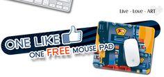 FACEBOOK FREEBIE $$ FREE Cusomized Mouse Pad = 1st 500!