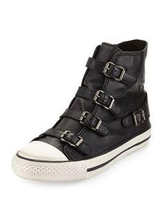 Virgin Buckled High-Top Sneaker, Black by Ash Footwear at Bergdorf Goodman. $185