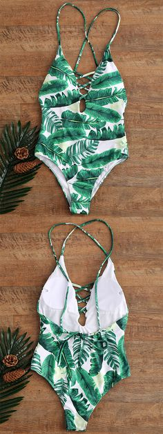 Zaful Green Palm Tree One piece Palm print Backless One piece Size XL Bust. - Zaful Green Palm Tree One piece Palm print Backless One piece Size XL Bust: 38 in Waist : 31 in Hip: 40 in Zaful Swim One Pieces Source by theswankypalm - Plunging One Piece Swimsuit, 1 Piece Swimsuit, Pineapple One Piece Swimsuit, Swimsuit Cover Ups, Cute One Piece Swimsuits, Green Swimsuit, Palm Print, Bikini Fashion, Bathing Suits