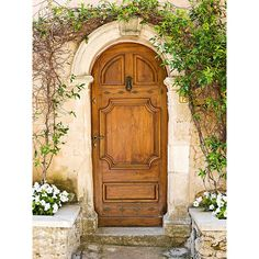 Beautiful Worldly-Influenced Front Doors ❤ liked on Polyvore featuring backgrounds, doors and rooms