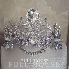 新款新娘皇冠婚禮首飾民族發飾超大額飾舞台影樓配飾宮廷頭飾女
