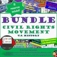 Civil Rights Movement Study History, History Class, Us History, Creative Teaching, Teaching Science, Social Science, Teaching Secondary, Civil Rights Movement, Pacing Guide