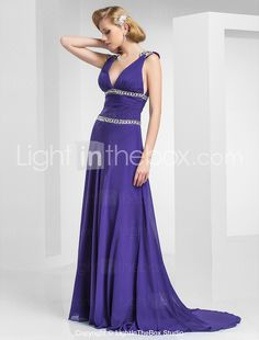 Purple occasion maxi dress