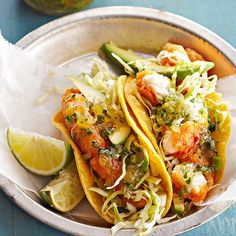You will love our irresistibly tangy Baja Fish Tacos! More taco recipes: http://www.bhg.com/recipes/ethnic-food/mexican/fuss-free-tacos-tostadas/?socsrc=bhgpin071113fishtacos=2