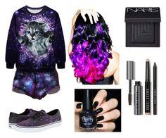 """miss universe"" by shellandciara on Polyvore featuring Vans, Leg Avenue, NARS Cosmetics and Bobbi Brown Cosmetics"