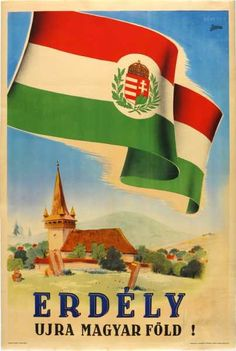 "Kingdom of Hungary Erdély újra magyar föld! ""Transylvania is again Hungarian land! late Repealing the 1920 Treaty of Trianon. Graphic Design Illustration, Digital Illustration, Budapest, Retro Poster, Railway Posters, Art Graphique, Historical Maps, Vintage Travel Posters, Illustrations And Posters"