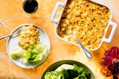 """Cauliflower """"Mac 'n' Cheese"""" Casserole Recipe / Photo by Chelsea Kyle, Prop Styling by Alex Brannian, Food Styling by Anna Stockwell"""
