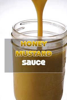 Sweet and tangy honey mustard sauce. Wings, salads, proteins, this sauce goes well with everything! Honey Mustard Chicken Wings, Honey Mustard Dip, Honey Mustard Recipes, Chicken Wing Dipping Sauce, Chicken Wing Sauces, Chicken Wing Recipes, Ham Sauce, Zesty Sauce, Sauce For Pork Tenderloin
