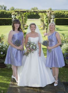 Wedding of the Week: Rebecca Storey and Thomas Butler | Lavender knee-length bridesmaid dresses | bridemagazine.co.uk