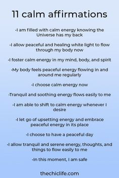 11 Affirmations for Peace and Calm | For Reducing Stress and Overwhelm