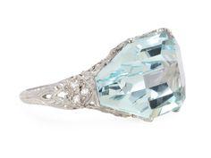 Heaven: An Aquamarine & Diamond Ring - The Three Graces