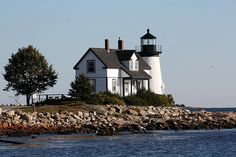 Prospect Harbor Lighthouse in Maine.