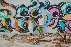 colorful graffiti wall