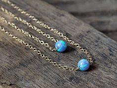 OPAL NECKLACE Blue Opal Layered Necklace by AlisonStorryJewelry  $52.00