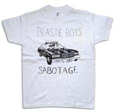 Beastie Boys T-Shirt S M L Sabotage MCA Police Car Hip Hop Screenprint Illustration Shirt