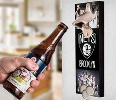 This Brooklyn Nets bottle opener can be a great gift to any sports fan. It's the perfect addition to any man cave, bar area, kitchen, or to just put out while watching the big game. It is also a great groomsmen gift. Brooklyn Nets Wall Mount Bottle Opener Brooklyn Nets Cap Catcher Brooklyn Nets Wall Opener Brooklyn Nets Beer Opener Brooklyn Nets Wall Art Brooklyn Nets Craft Brooklyn Nets Decor Brooklyn Nets Gift Brooklyn Nets Diy Brooklyn Nets Art