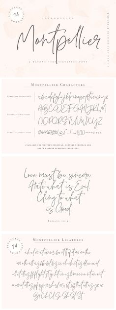 Montpellier Font is a handwritten signature font that is perfect for branding, social media headers, product packaging, wedding invites and cards and so on. This font is completely Cursive Fonts Alphabet, Tattoo Fonts Cursive, Calligraphy Fonts, Script Fonts, Monogram Fonts, Monogram Letters, Font Logo, Free Monogram, Font Styles Alphabet