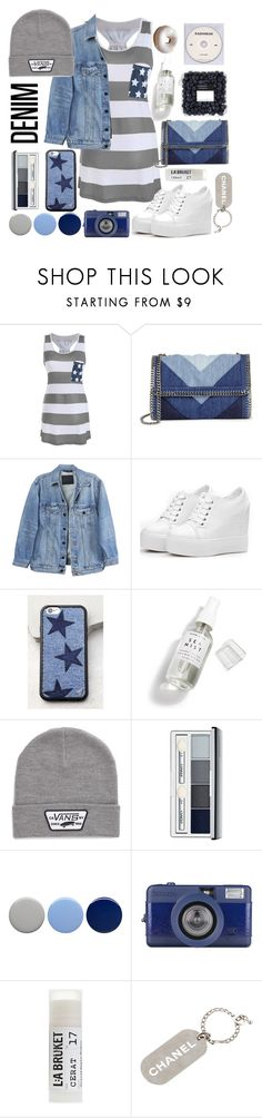"""""""Patriotic racer back"""" by katy187 ❤ liked on Polyvore featuring STELLA McCARTNEY, Y/Project, Wildflower, Herbivore, Vans, Clinique, Burberry, KEEP ME, Toast and Chanel"""