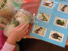 "#preschool ""I Spy"" jars and picture cards. This could easily be adapted and built on as baby gets older."