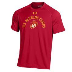 Under Armour U.S. Marine Corps Performance Red Tee Usmc 28c55d8be