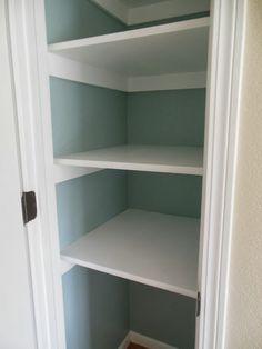 Paint inside of pantry | Pantry Makeover | Benjamin Moore Wedgewood Grey